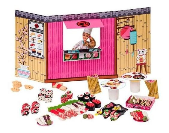 Massinha De Modelar Barbie Comidas Japonesas Fun - Rosa
