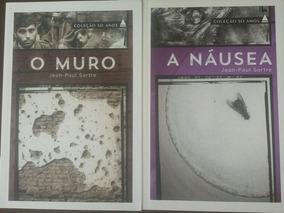 A Náusea + O Muro; Jean Paul Sartre - Livros Coleção 50 Anos