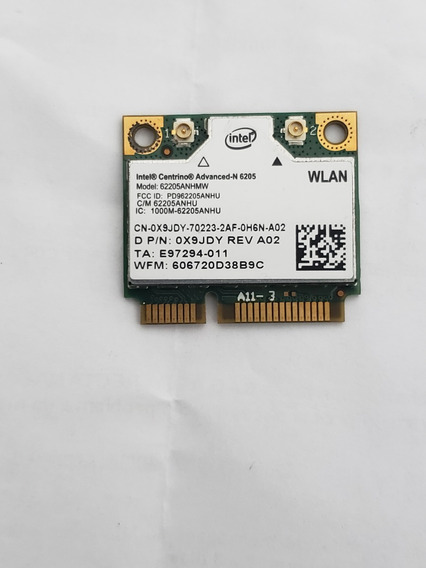 Placa Wifi Wireless Dual 2.4 5.0 N-6205 62205anhmw Dell Acer
