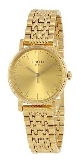 Relogio Tissot Feminino T1092103302100 T- Classic Dourado