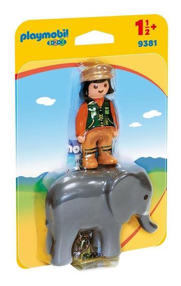 Playmobil 9381 Playmobil 123: Cuidador Con Elefante