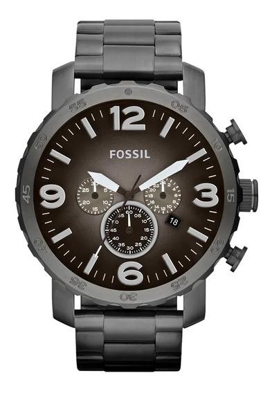 Relógio De Pulso Fossil Nate Masculino Jr1437/4pn - Grafite