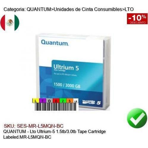 Imagen 1 de 1 de Quantum Lto Ultrium5 1.5/3tb Cinta Respaldo Mr-l5mqn-bc
