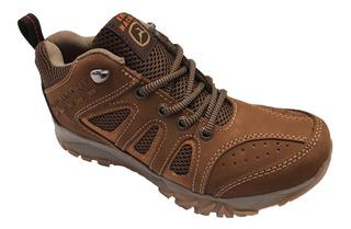 Zapato Tenis Casual Hombre Ene Hache Piel Textil Terrain