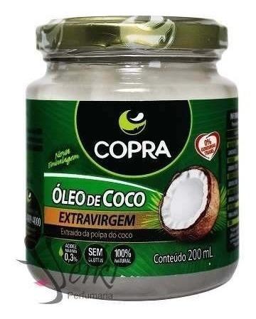 Óleo De Coco Extra Virgem Natural Capilar 200ml Copra