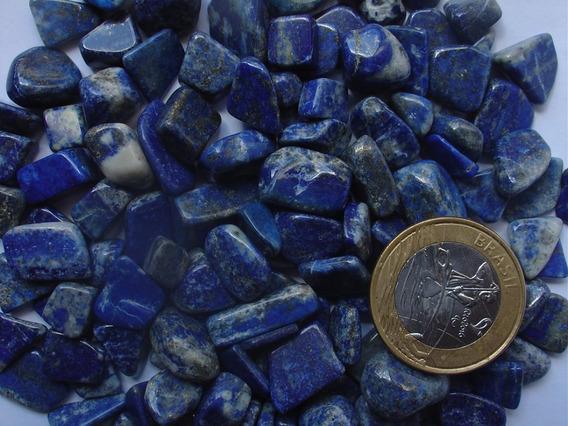 Pacote Com 50gr De Lapis Lazuli Rolado Tamanho 0,7 A 1,2cm
