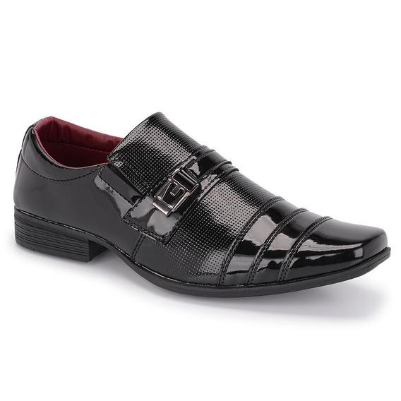 Sapato Social Masculino Schiareli Preto Envernizado Ref 833