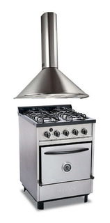 Combo Cocina Industrial Depaolo 4h 57cm + Campana Circular