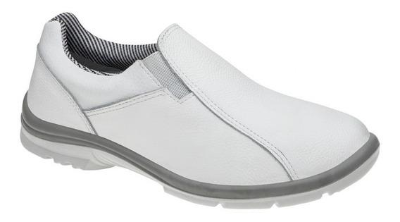 Sapato Social Branco Couro Unissex Marluvas 50f61 Bidensidade Hospital, Médico, Cozinha, Alimentação. Promoção