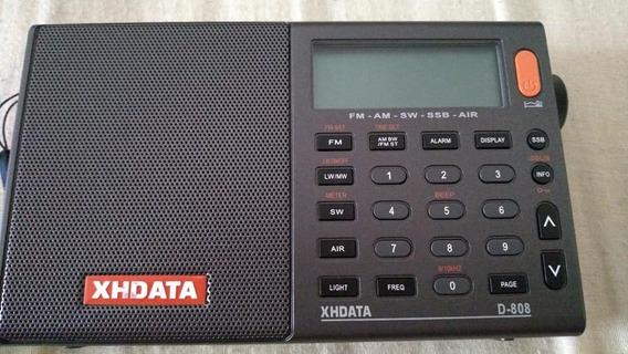 Rádio Xhdata D-808 Digital Banda Aviação Fm/mw/lw/sw Ssb