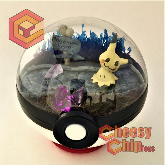 Pokemon Pokeball Terrarium Mimikyu Spooky- Pokebola De 12cm.