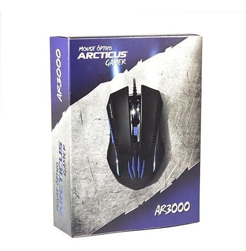 Mouse Gamer 3000 Dpi Usb 6 Botões Arcticus Ar3000