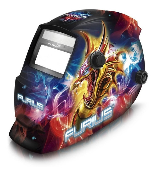 Careta Para Soldar Electrónica - Furius Dragon 449