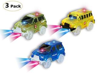 [paquete 3] Carro Pista 5 Luces Led Bril En La Oscuridad No