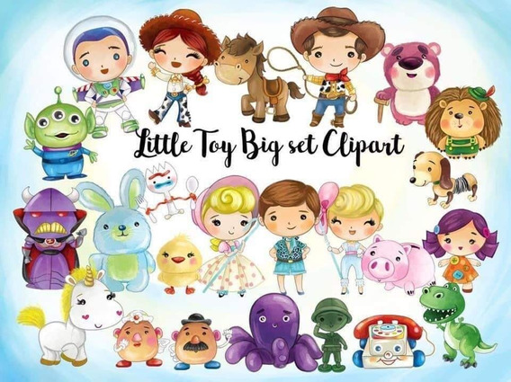Kit Imprimible Toy Story 4 Clipart Imagenes Forky Acuarela