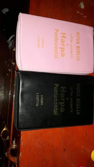 Biblia Sagrada Letra Gigante E Harpa