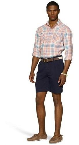 Short Polo Ralph Lauren Azul Marino Nuevo, Original Talla 36
