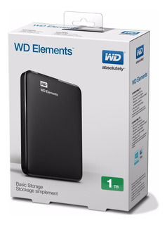Disco Rigido Externo 1tb Wd Western Digital Elements Envios
