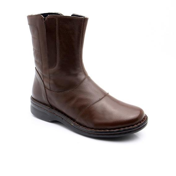 Bota Feminina 372 Em Couro Café Vegetal Doctor Shoes