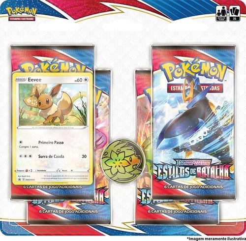 Card Game Pokémon Estilos De Batalha Blister Quádruplo Eevee