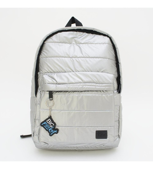 Mochila Big Pocket P/notebook 17 Plateada Monsil17