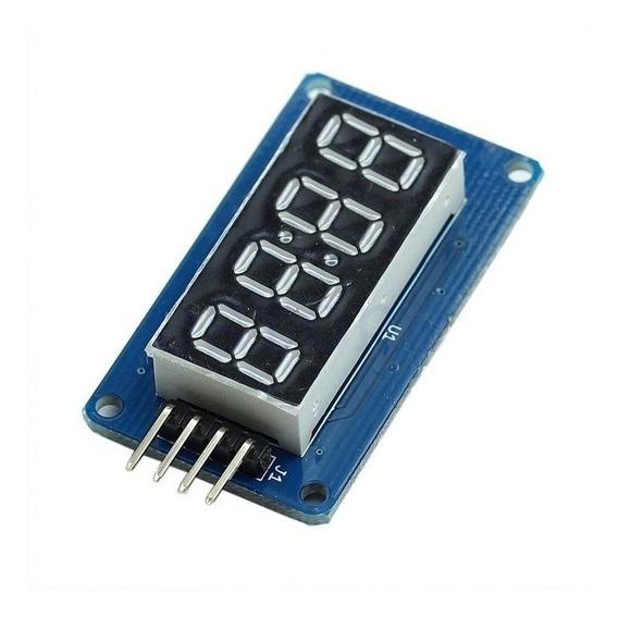 Display 4 Digitos Tm1637 Relogio Modulo Arduino