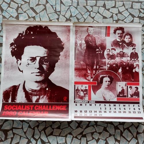 Calendário Socialista Ano 80 Trotsky Comunismo Poster 64cm