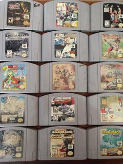 Videojuegos Nintendo 64 Lote De 15 Cartuchos Mario
