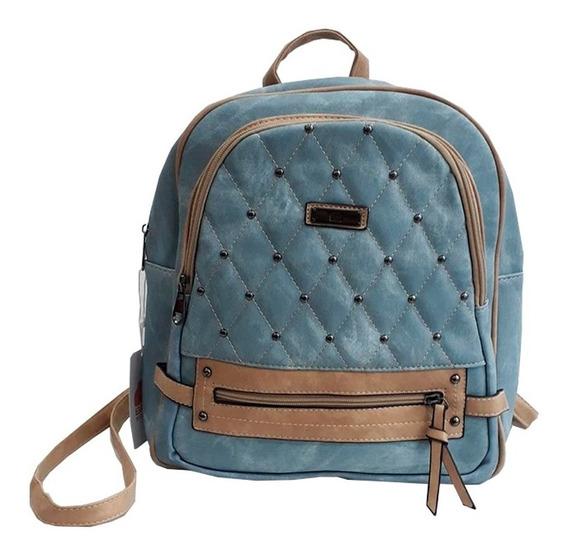 Mochila Aplique Mini Tachas Mujer Bag Stage Su2078 Mapleweb