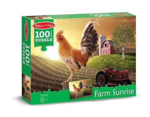 Melissa Y Doug Farm Sunrise Gallo En Dawn Jigsaw Puzzle 100