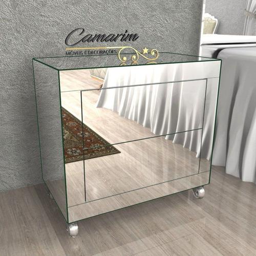 Imagem 1 de 1 de Criado Mudo Espelhado De Luxo