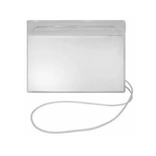 Porta Crachá Com Cordão Transparente Polibras - 61317 Vendid