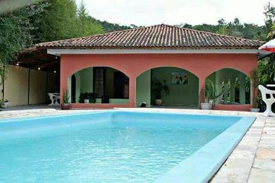 Linda Chácara Locação Definitiva/sede/piscina/ref: 04801