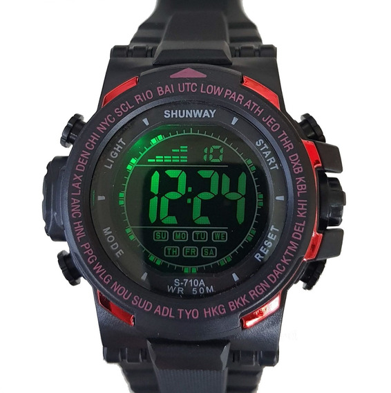 Relógio Digital Masculino Esportivo Prova D