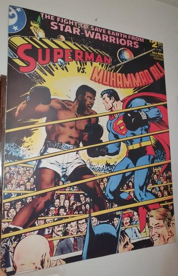 Quadro Capa De Revista Superman Vs Muhammad Ali