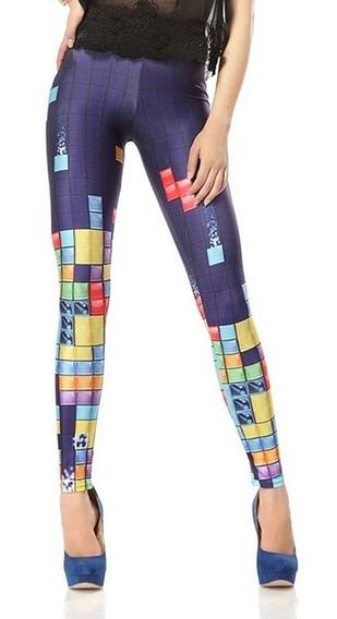 Sexy Leggins Gym Legins Mallas Pantalones Estampado Colores