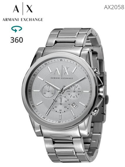 Relógio Armani Exchange Cronógrafo Ax2058 Prata