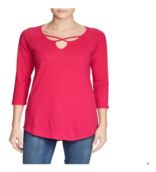 Camiseta Blusa Para Dama Tipo Tunica Eddie Bauer