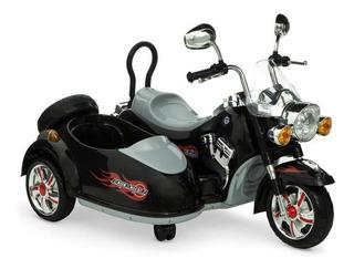 Motocicleta Montable Eléctrico Con Cabina Para Segundo Niño