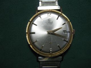 Reloj Consul De Hombre, Oro Plaque Funcionando