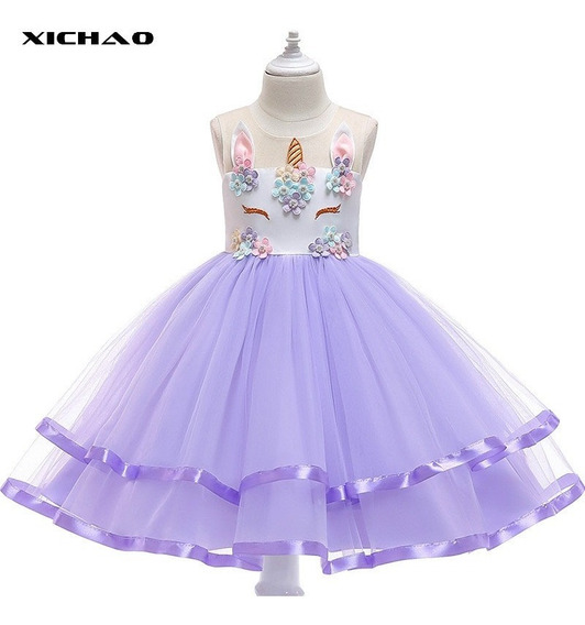 Falda De Niñas Vestido De Fiesta Unicornio Ropa Infantil