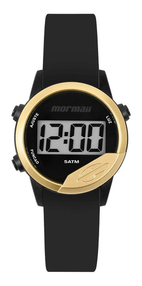 Relógio Mormaii Mude Unissex Digital Mo4100ad/8d Preto + 2 Pulseiras