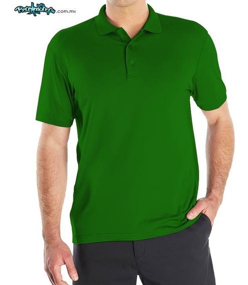 Playera Verde Bandera Premium Tipo Polo Dryfit!
