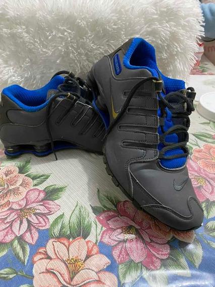Tênis Nike Shox Nz Masculino Em Couro Semi Novo Tamanho 43