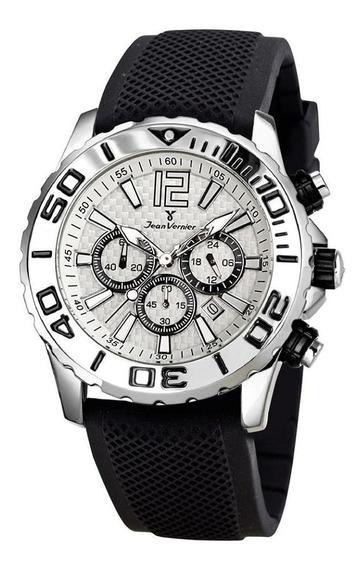 Relógio Pulso Jean Vernier Cronógrafo Masculino Jv02091
