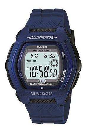 Relógio Casio Hdd 600 Azul Prova Dágua 100 Mts 100% Original