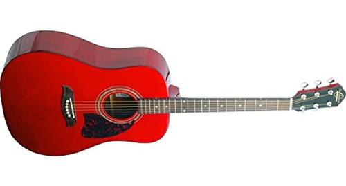 Imagen 1 de 1 de Oscar Schmidt Og2trau Guitarra Acustica Trans Rojo