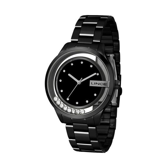Relógio Feminino Lince Glam Preto