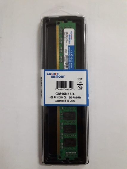 Memoria Ram Para Pc 4gb Ddr3 1600mhz Dimm Golden Memory