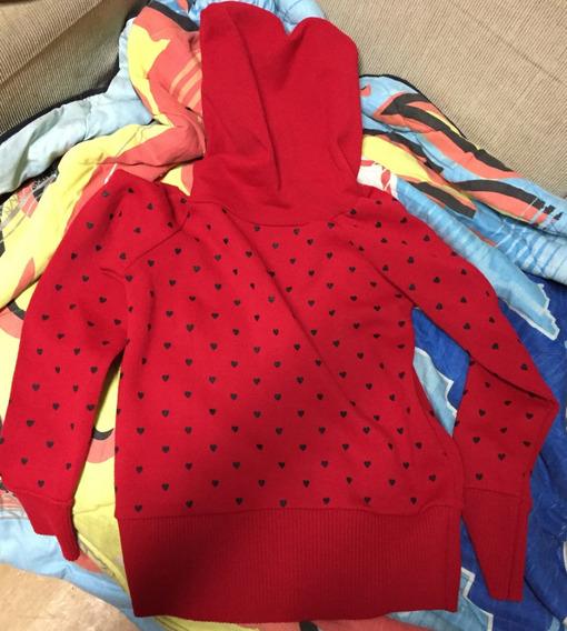 Casaco Capuz Vermelho Com Touca - Modelo Slim - Frete Grátis